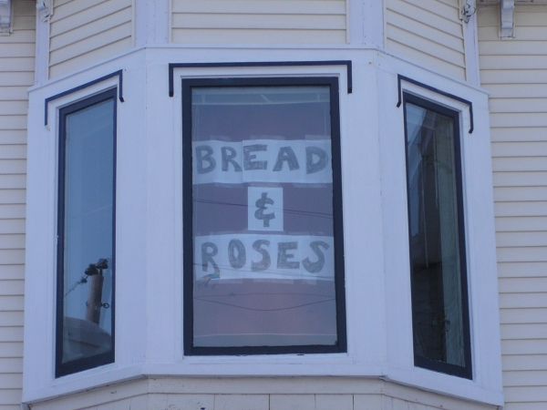 Bread and Roses Banner, St. John's NL, Canada